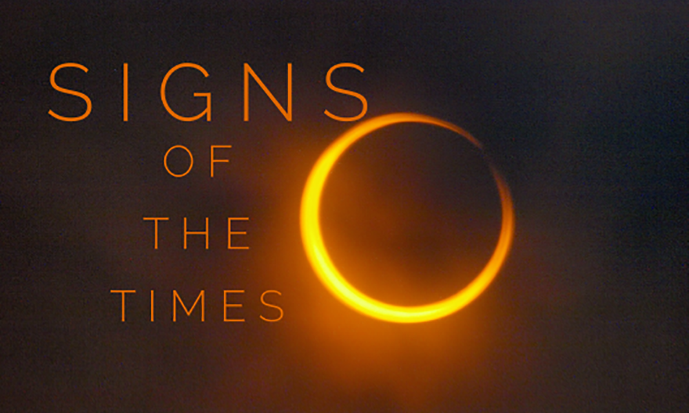 Signs of the time total eclipse image